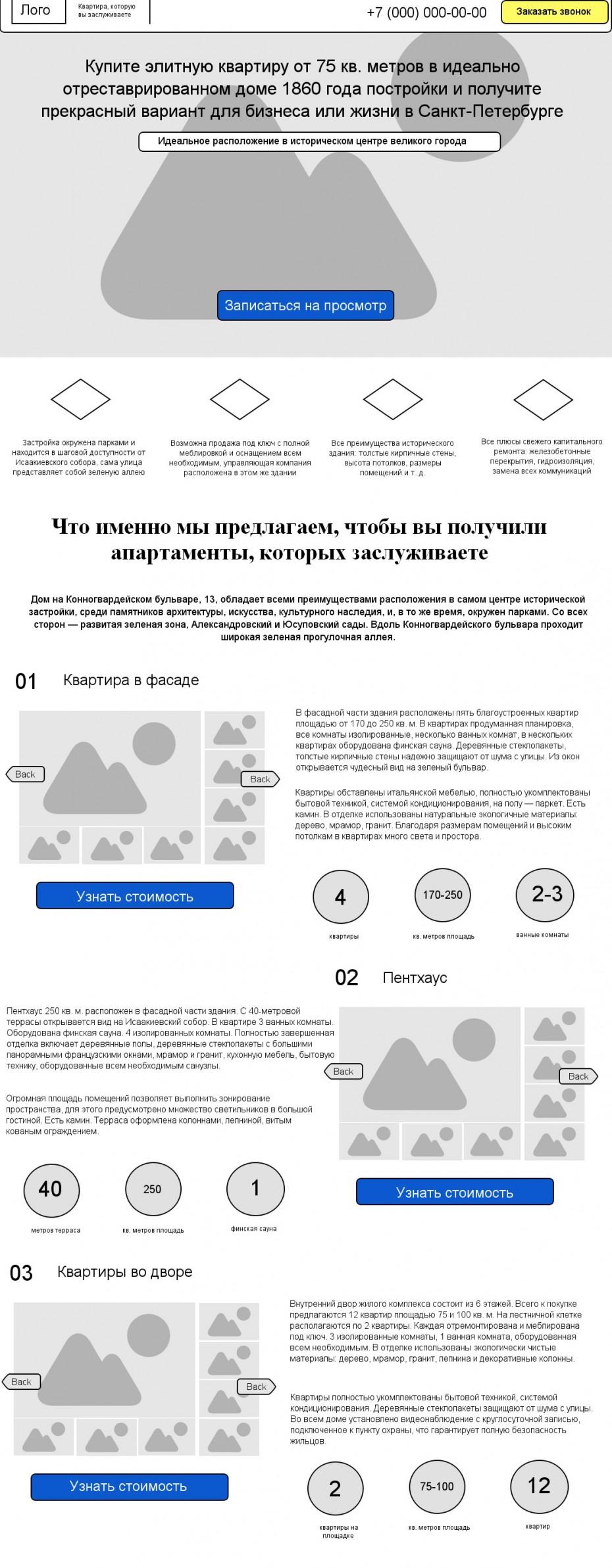 Текст для landing page + прототип